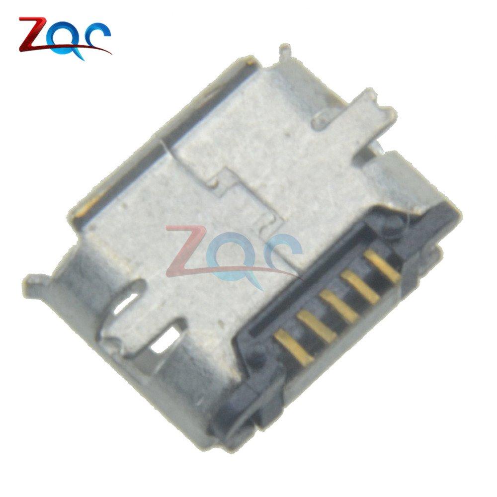 10pcs Micro USB Female 5Pin SMT Surface Mount Socket Jack Connector Port WO