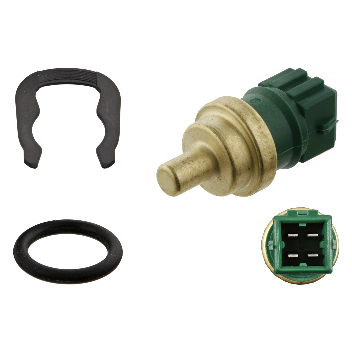 febi bilstein 31539 Coolant Temperature Sensor with seal and retaining spring pack of one