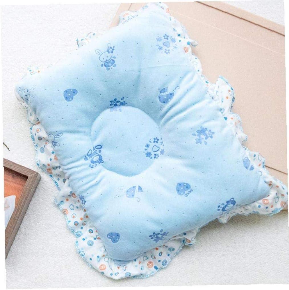Velvet Bambino Cuscino Impedice La Testa Piana Per Il Neonato Di Protezione Shaping Pillow and Neck Support Blu