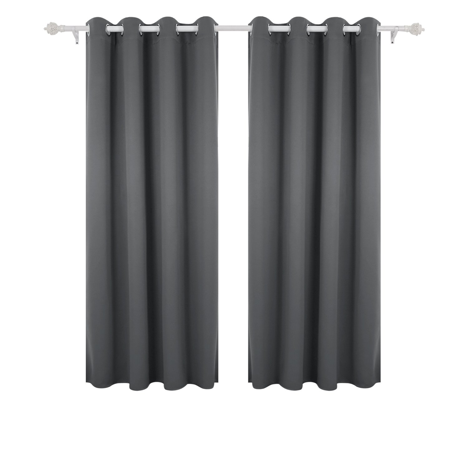 Deconovo Thermal Insulated Bedroom Blackout Curtains Ring Top For Kids With Two Matching