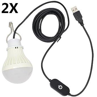 Usb 10 400lm CommutateursPour 5730leds Le 5w 2x Ampoule Chaud Dimmable Brillant Avec Des Led Super Smd Camping Blanc Lampe uT135FKJlc