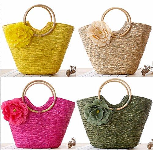 Army Purse Knitted Green Sweet Straw Hobo Handmade Women Handmade Shoulder Bag Bag aZTxFv
