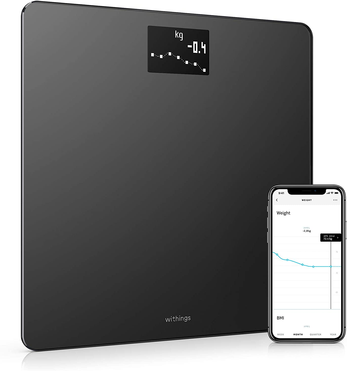 Body Compostion Wi-Fi Scale Black Weighing Scales Diet Help NEW Nokia Body
