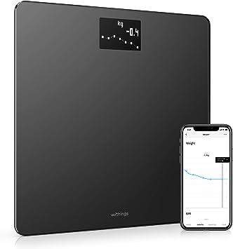 Withings Body Báscula inteligente con conexión Wi-Fi y seguimiento del IMC, báscula digital de baño con sincronización con la aplicación móvil por Bluetooth o Wi-Fi: Amazon.es: Salud y cuidado personal