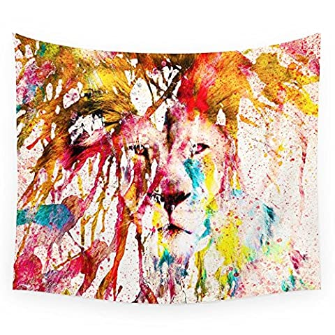 Society6 Wild Lion Sketch Abstract Watercolor Splatters Wall Tapestry Small: 51