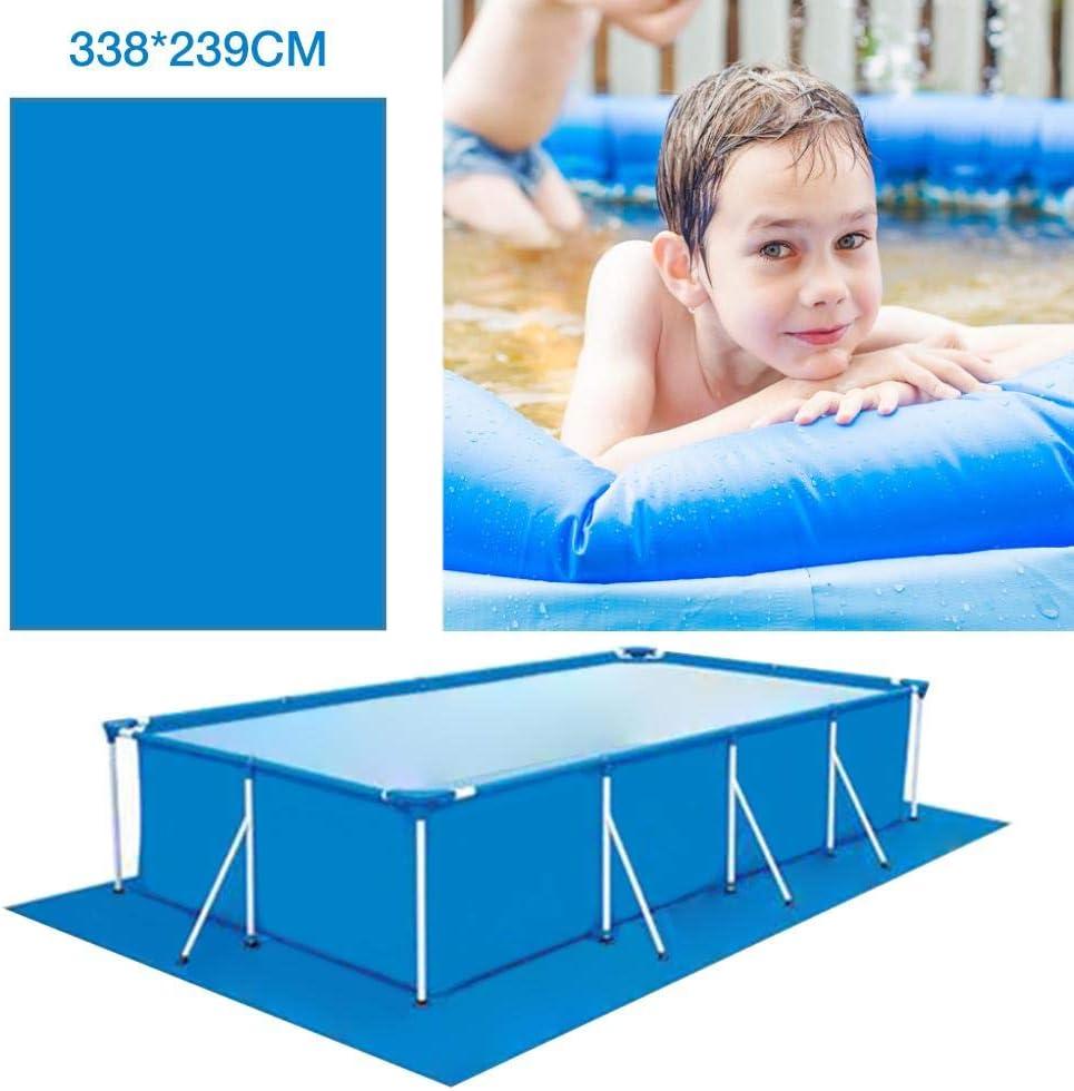 Tapis de Sol pour Piscine piscines Hors Terre Tapis Facile /à Nettoyer 338x239CM Tapis de Piscine /à Plancher carr/é pour Piscine rectangulaire