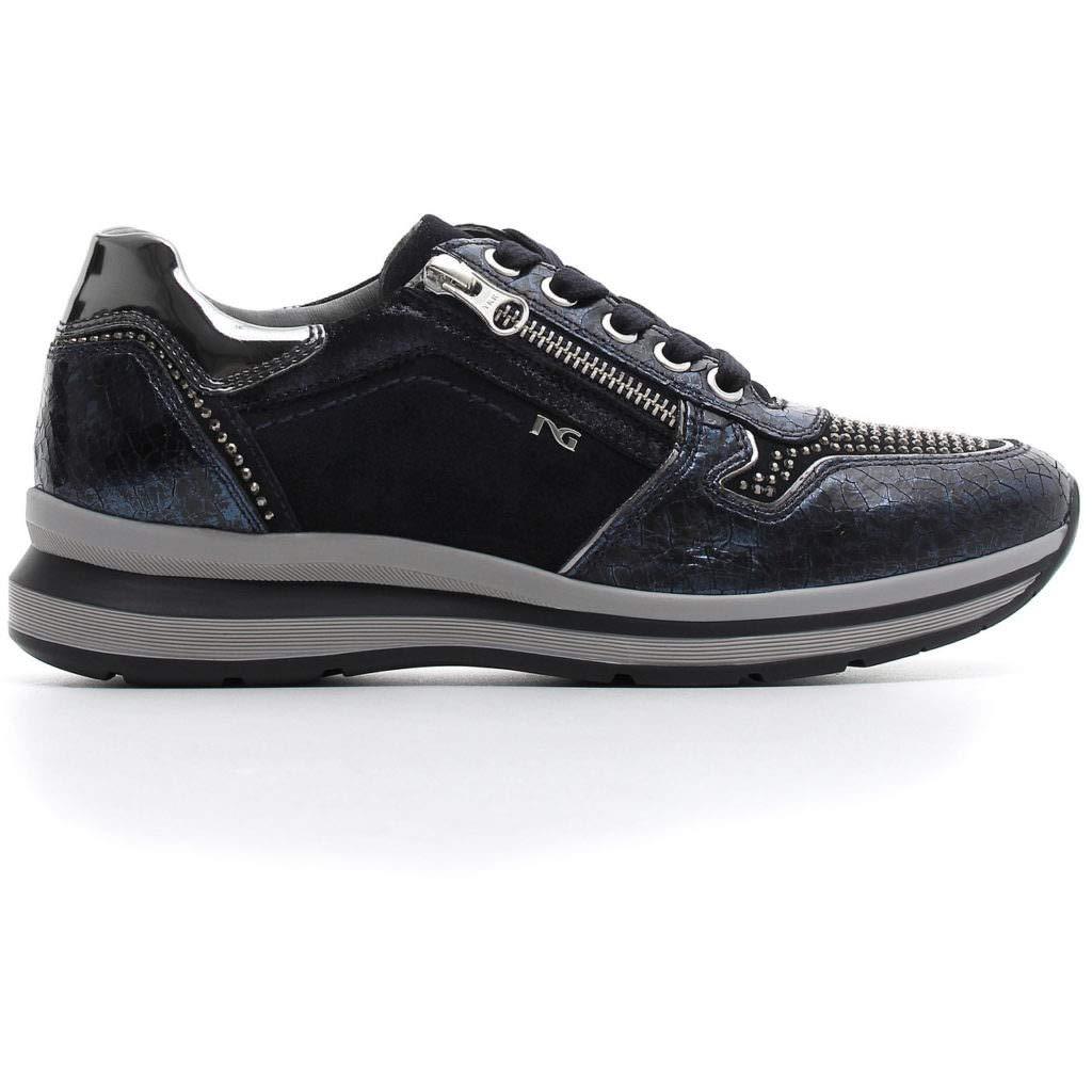 schwarz Giardini  Niedrige Damen Niedrige  Turnschuhe Blau - blau - Größe  37 EU 599947