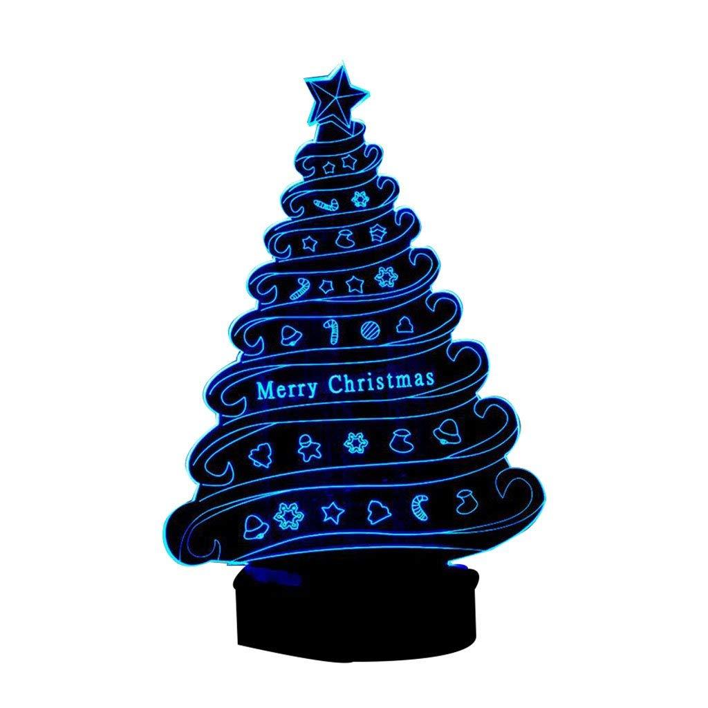 Eeayyygch Licht des Weihnachtsbaum-3D buntes Noten-LED-Licht-kreatives Geschenk-Nachtlicht personifiziertes Nachtlicht