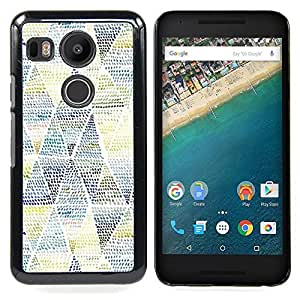 BullDog Case - FOR LG Google Nexus 5X - Art Pattern Blue Yellow - Dise???¡¯???¡Ào para el caso de la cubierta de pl???¡¯????stico Chicas