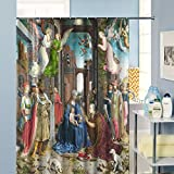 European Vintage Style 72' x 72' Polyester Fabric Waterproof Angel Goddess Shower Curtain - Great Gift