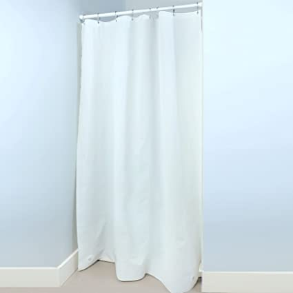SlipX Solutions Mildew Resistant White Heavyweight Stall Shower Curtain Liner With Microban Antimicrobial Protection 100