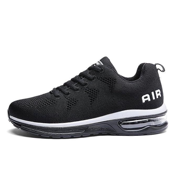 Männer Frauen Leichte Schuhe Kissen Laufschuhe Turnschuhe Paar Lläuft (42, Blau)