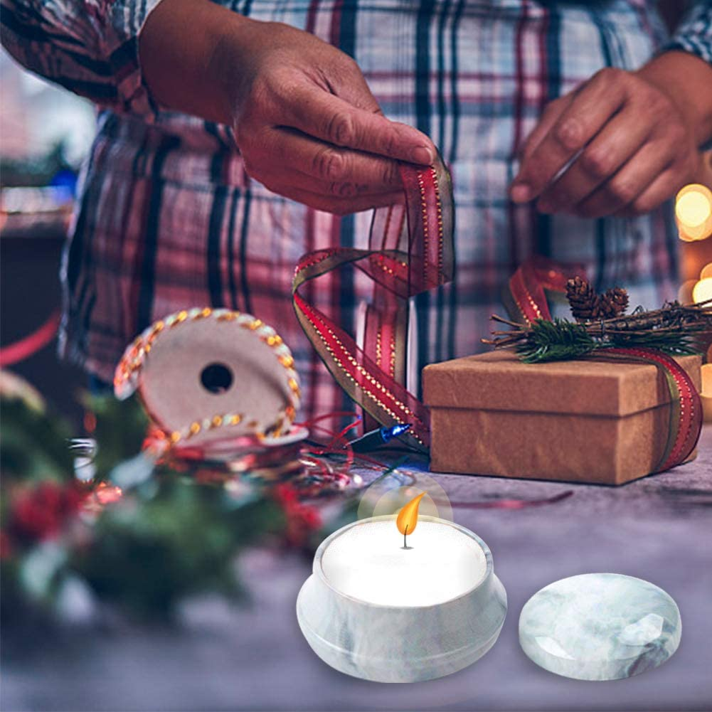 Vidillo Kerzenherstellungs-Set 12 St/ück Mini-Kerzen-Basteldosen f/ür Weihnachten Kerzen und Kerzen