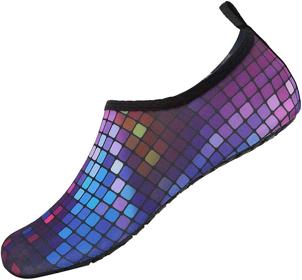 Water Sports Shoe Colorful Sports Shoes Barefoot Quick-Dry Aqua Yoga Socks Slip-On Swimming Surf Shoes Beach /& Pool Shoes Slippers Mens Summer Sports Shoes For Men Waterproof Lightweight
