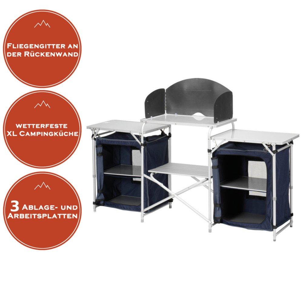 Multifunktionale Campingküche, große Reiseküche, leicht faltbar + ...