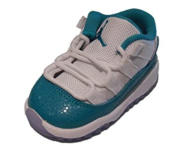 c9dff6251a Image Unavailable. Image not available for. Color: Nike Jordan 11 Retro Low  (TD) Toddler Kids Girls' White/Volt Ice