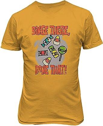 Nueva Camisa de la Novedad Que Trata la Camisa del Caramelo Studio Halloween Camiseta Divertida de los Hombres, L: Amazon.es: Ropa y accesorios