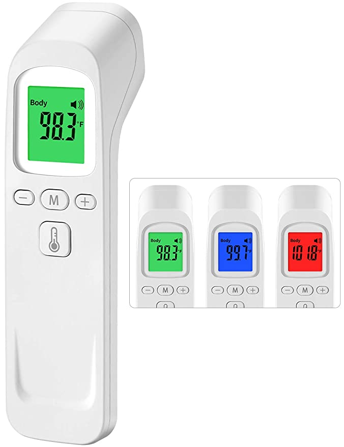 Digital Memory Recording for Baby Kids /& Adults Accurate Measurement Non-Contact Infrared Forehead Thermometer with Fever Alarm