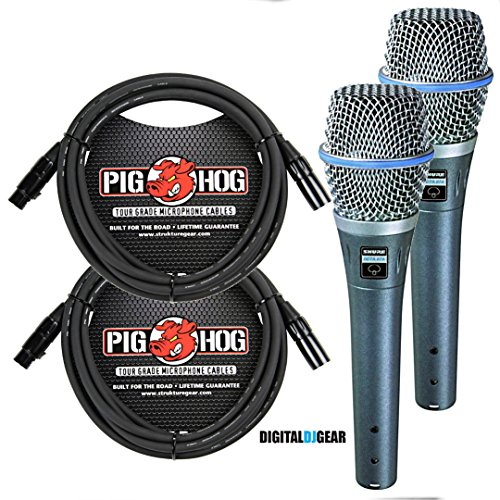 (Shure Beta87 Dynamic Microphone PAIR with Free cables)