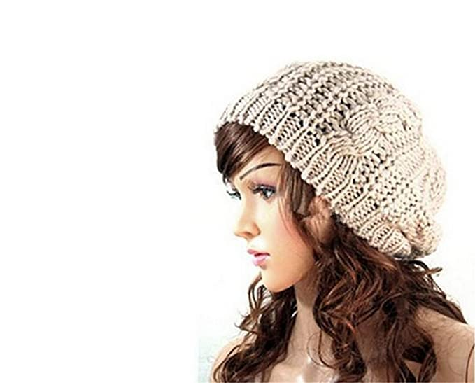 Stofirst Damen Mode Winter Warme Gestrickte Baggy Beret Hüte ...