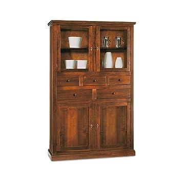Mobile dispensa, stile classico, in legno massello e mdf con ...