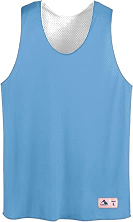 Men/'s XL Tank Top Plain White Light Weight Poly//Cotton by Augusta