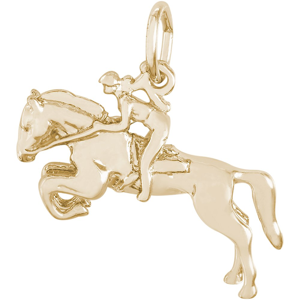 Rembrandt 14K Yellow Gold Horse And Rider Charm (21.5 x 12.5 mm)
