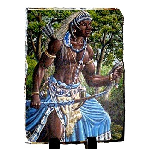 ochosi-oshosi-santeria-deidades-yoruba-lucumi-placa-de-pizarra-piedra-hecha-a-mano-incluye-caballete