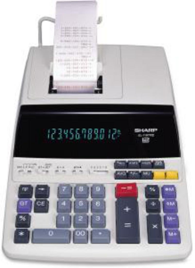 SHARP EL-1197PIII 12-Digit Electronic Printing Calculator Sharp Calculators