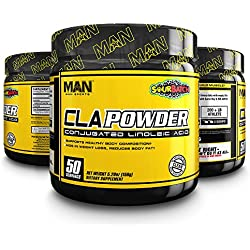 MAN Sports Cla Powder Conjugated Linoleic Acid Healthy Weight Management Supplement, Sour Batch, 50 Servings, 170 Grams