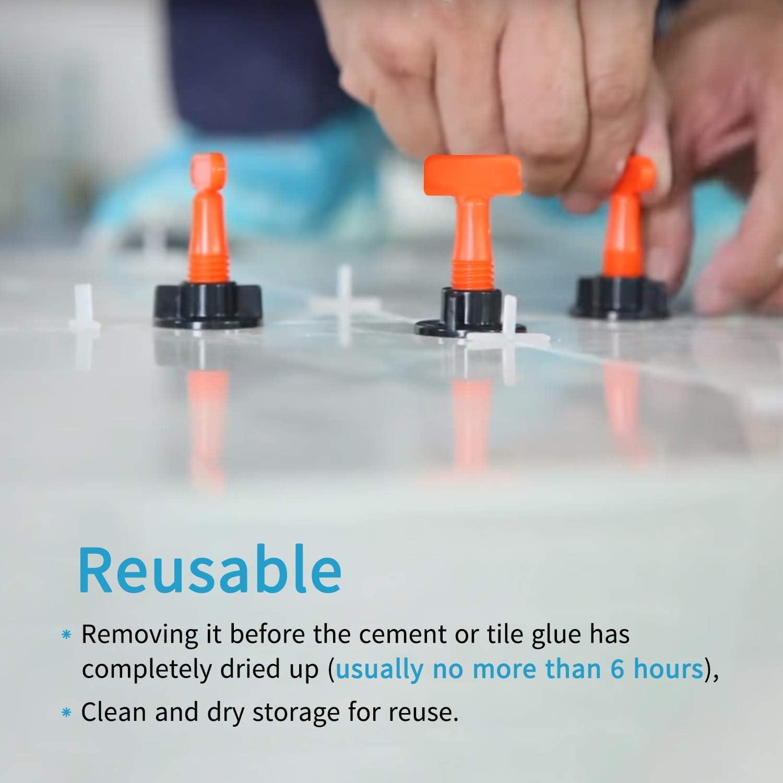 kit de herramientas de instalaci/ón de baldosas reutilizables 2 llaves HOWATE Kit de sistema de nivelaci/ón de baldosas con espaciadores de nivelaci/ón de baldosas de 50 piezas