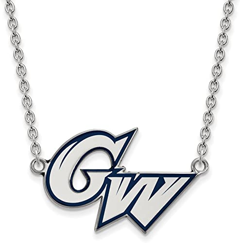 18 Sterling Silver Washington State Small Pendant w//Necklace by LogoArt