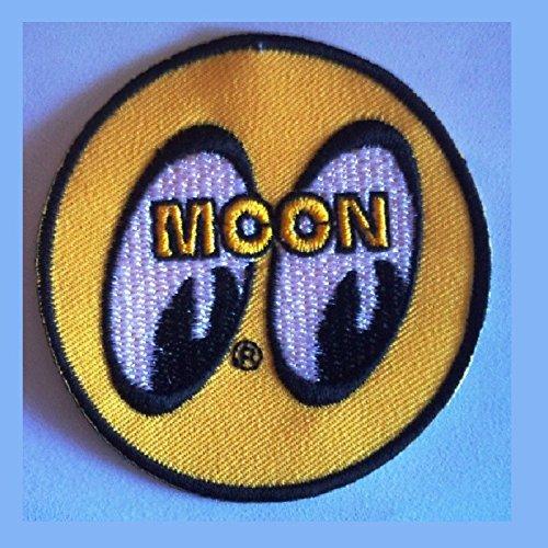 hotrodspirit/ /Patch Moon Eyes rund gelb Ecusson-zum Aufb/ügeln Hot Rod