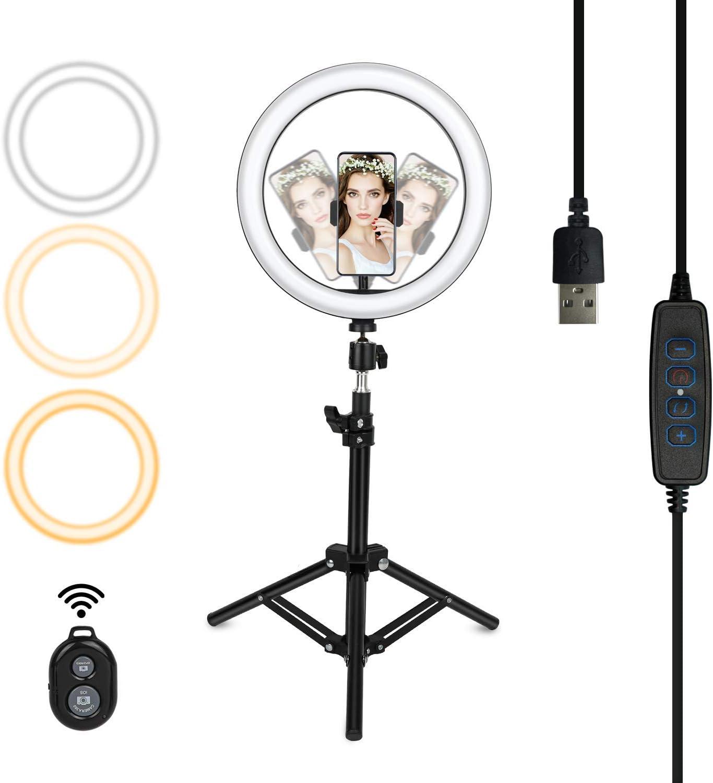 Led Ringlicht Mit Stativ Tllaygm 10 Zoll Selfie Kamera