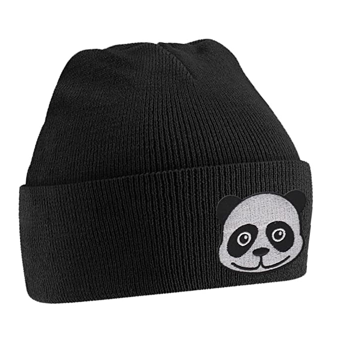 Amazon.com  Panda Bear Cute Animal Embroidered Beanie Hat Logo Men s ... 4c221851a8e