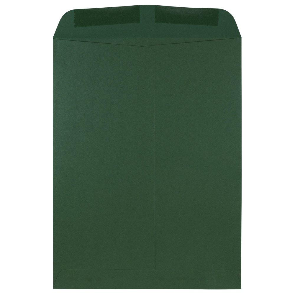 JAM Paper Open End Catalog Envelopes - 9'' x 12'' - Dark Green - 100/pack by JAM Paper (Image #2)