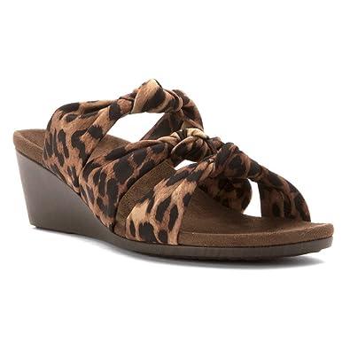 0e8936ff95 Vionic Park Rizzo - Womens Wedge Sandal Tan Leopard - 6