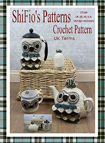 Amazon Crochet Pattern Cp249 Owl Covers For Cafetiere Mug