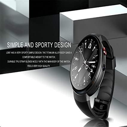 Amazon.com: Android 7.1.1 Smart Watch LTE 4G Smartwatch GPS ...