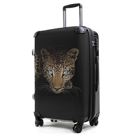 Hauptstadtkoffer Maleta, leopardo (transparente) - HKSTYLE