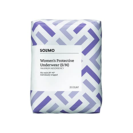 Amazon.com: Amazon Brand - Solimo Incontinence Underwear for Women Trial Pack, Maximum Absorbency, Small/Medium, 2 Count: Health & Personal Care