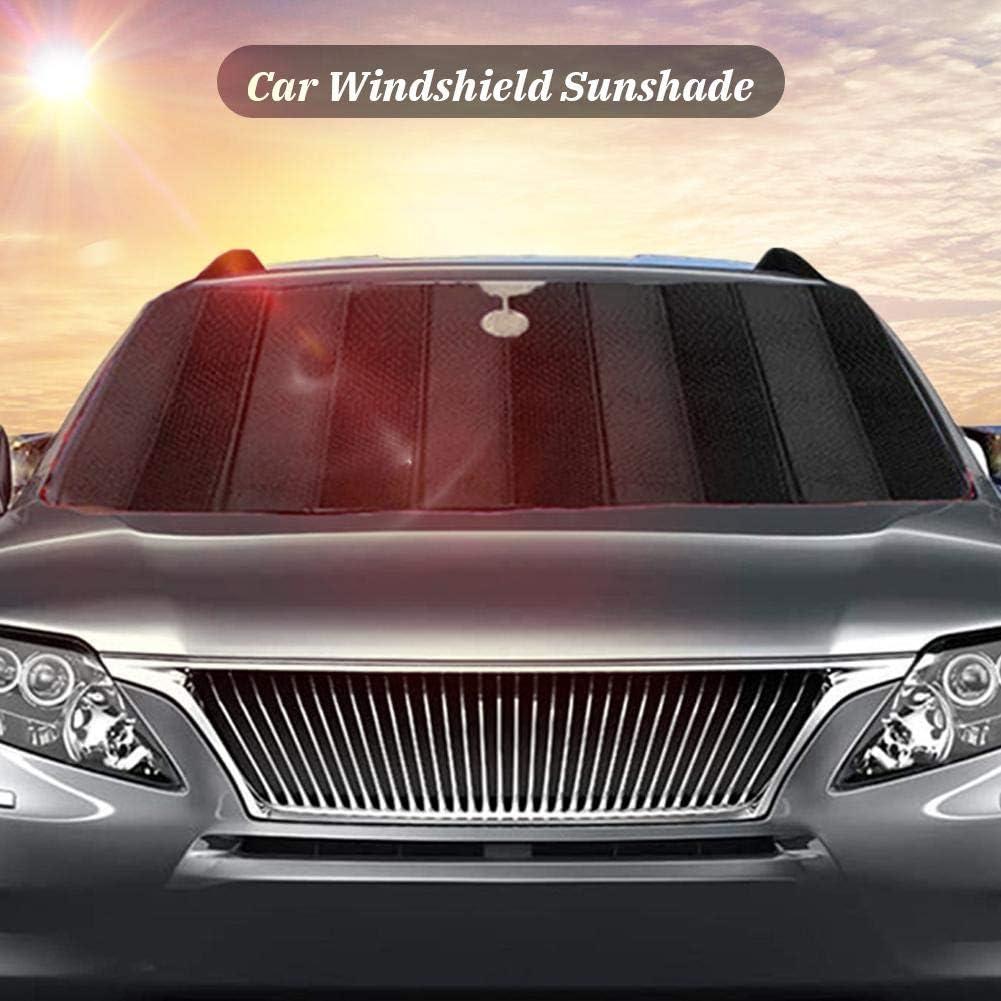 130X70cm // 150X80cm Blau//Schwarz Aluminiumfolie Windschutzscheibe Sonnenblende Einfache Lagerung Szseven 1PC Faltbare Auto Sonnenschutz Einstellbar f/ür Frontscheibe