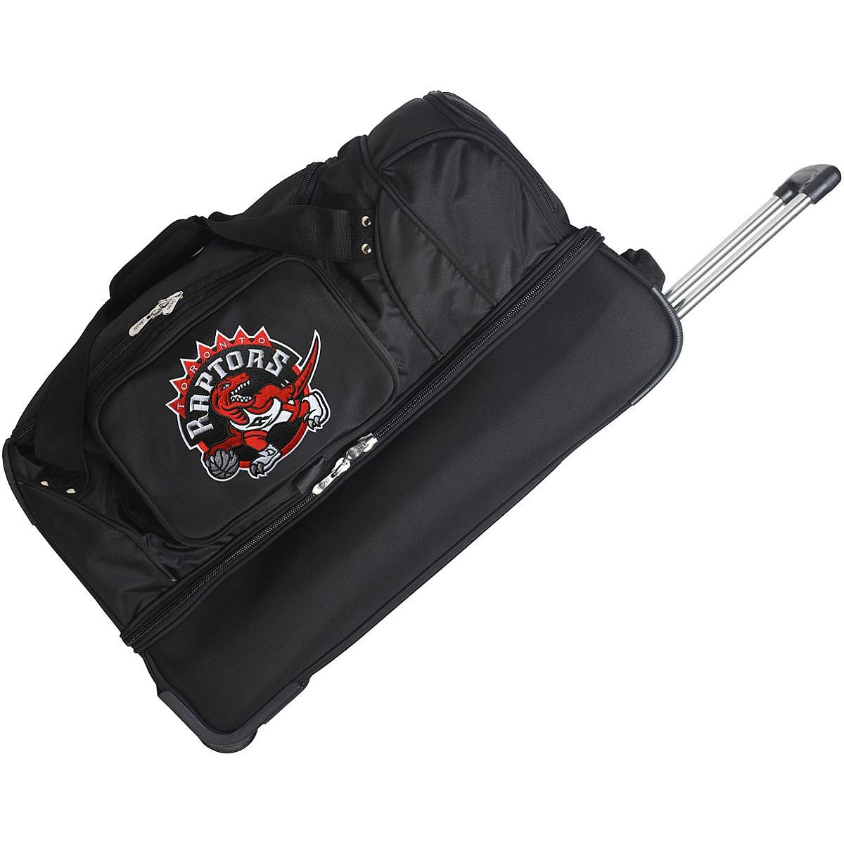 DENCO TORONTO RAPTORS 27'' 2-WHEELED DROP BOTTOM DUFFEL