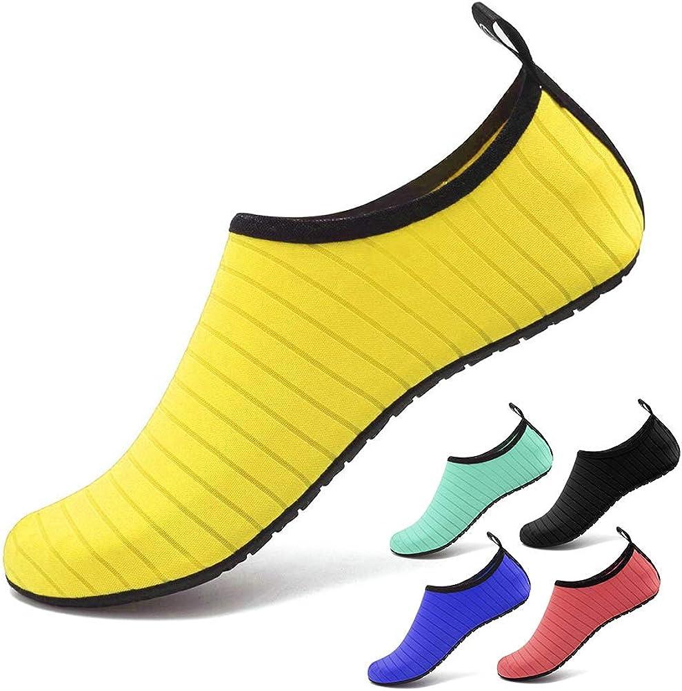 Navigation de Plaisance Parc CosyInSofa Chaussures deau Barefoot Beach Snorkeling Natation Slip-Dry Slip sur Yoga Beach Surf Chaussettes de Bain pour Hommes Womens pour la Marche