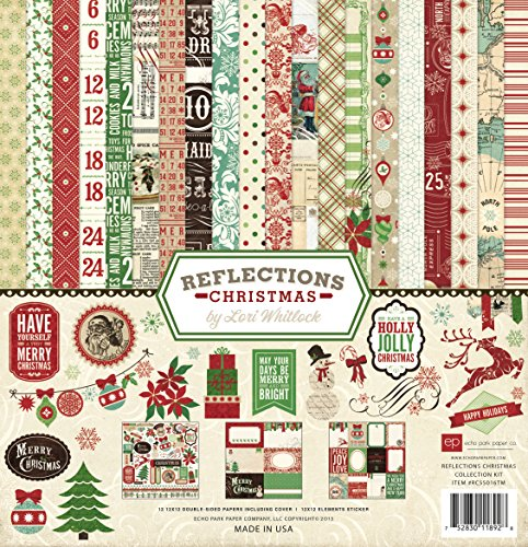 Echo Park Paper Company Reflections Christmas Scrapbooking Collection (Christmas Paper Kit)