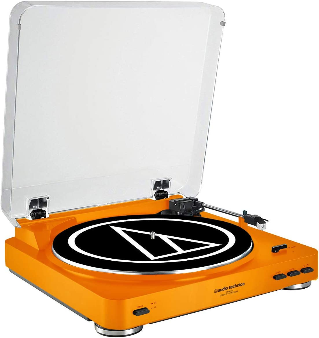 Audio-Technica AT-LP60 Fully Automatic Belt-Drive Stereo Turntable, Orange