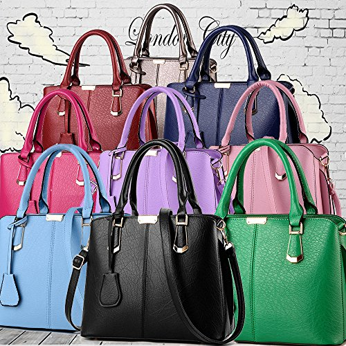 and Satchel Purse Bags Purse FiveloveTwo Shoulder Handle Handbag Top Tote Womens Pink STgzH