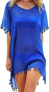 Women Tassel Chiffon Swim Bathing Suit Beachwear Cover Up