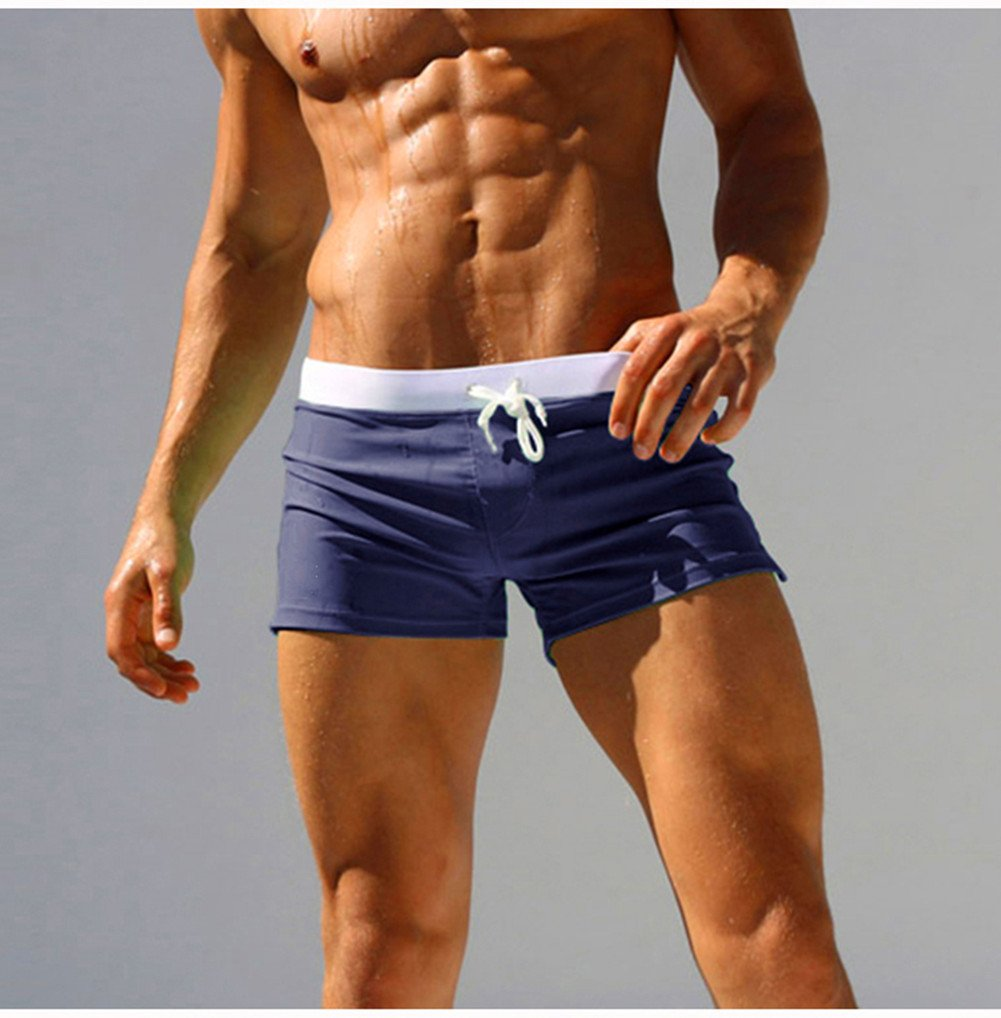 MASS21 Men's Beach Short Swimwear Brief with Adjustable Tie Size XL, Navy by MASS21 (Image #4)