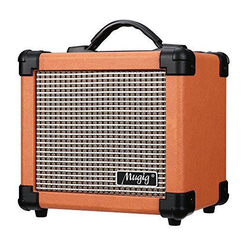 Crate Keyboard Amps - Mugig Guitar Amplifier 10W with Two Adjustable Channels and Dist Effects, Powered by 6 AA Batteries or AC Adapter